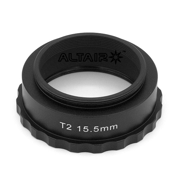 15.5mm T2 Spacer Extension Tube Ring - Easy Grip for Astro cameras