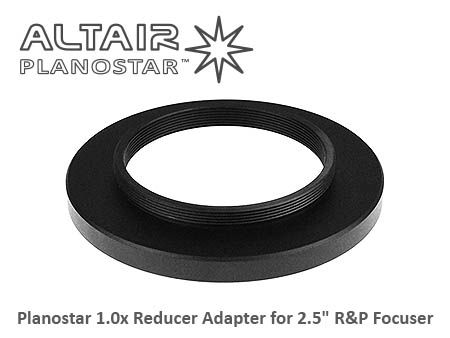 "Adapter to connect Planostar 1.0x Flattener to Altair 2.5"" R&P Focuser 2014 Wave Series Telescopes"