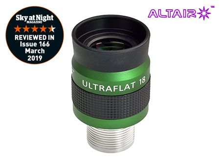 Altair 18mm ULTRAFLAT Eyepiece - Precision barrel stainless steel