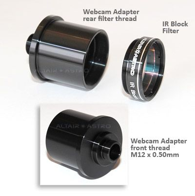Altair-EX 1.25 inch Webcam Adapter & IR Blocking Filter Package