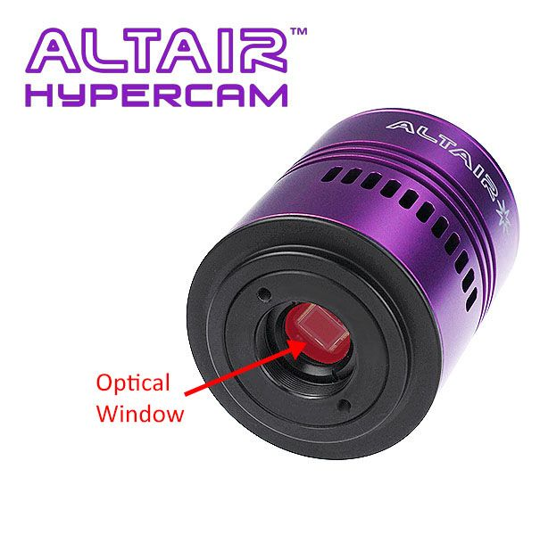 Altair Hypercam Replacement Optical Window - Clear with AR Coating