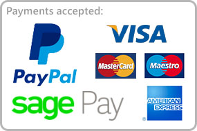 Payment Methods Visa PayPal MasterCard Maestro AMEX